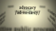 Definition: Advocacy - stock footage
