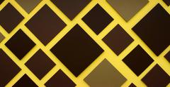 Brown square box on yellow background Stock Photos