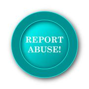 Report abuse icon. Internet button on white background. - stock illustration