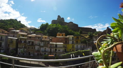 Norman's Castle, South Italy, Zoom Camera, Time Lapse Stock Footage