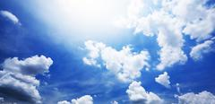 Stock Photo of Blue sky and white cloudy