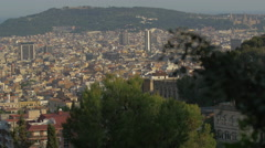 Great panoramic view of Barcelona Stock Footage