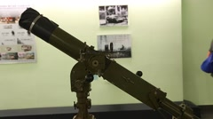 Canon at war remnants museum Stock Footage