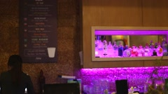 Pan - chic lounge in Ho Chi Minh city Stock Footage