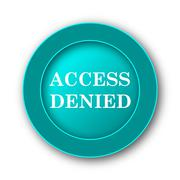 Access denied icon. Internet button on white background. Stock Illustration