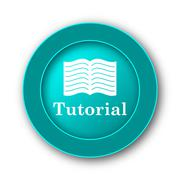 Stock Illustration of  Tutorial icon. Internet button on white background.