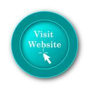 Visit website icon. Internet button on white background. Stock Illustration