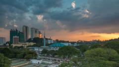 Sunset Time Lapse at National Mosque, Kuala Lumpur Stock Footage