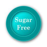 Stock Illustration of  Sugar free icon. Internet button on white background.