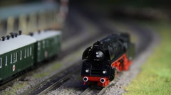 Model Railroad Locomotive Moving Backwords Stock Footage