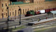 CU of Model Railroad Layout Stock Footage