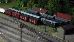 Model Railroad Train Stock Footage