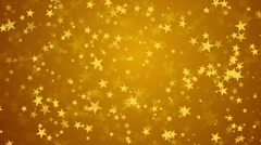 Gold Stars Smooth Background Stock Footage