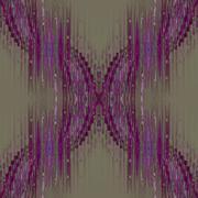 Seamless pattern green purple - stock illustration