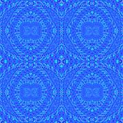 Seamless pattern blue turquoise - stock illustration