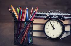 School stationary Stock Photos