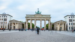Brandenburger Tor Berlin Stock Footage