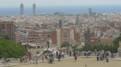 Hotel Arts and Mapfre Tower on the seafront in Barcelona Stock Footage