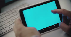 Man Using Tablet Stock Footage