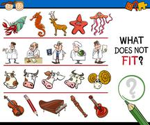 what does not fit game cartoon - stock illustration
