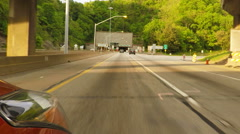 Fort Pitt tunnel Stock Footage