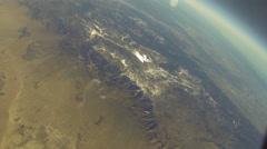 Aerial Desert Balloon Shot ** 1080HD Stock Footage