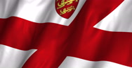 Stock Video Footage of Jersey waving flag 4K