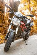 motorbike in the nature - stock photo