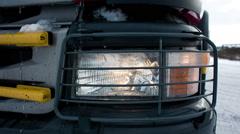 Truck lights headlights Stock Footage