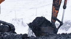 Working in coal cut Stock Footage