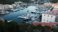 4K UltraHD A timelapse of the port of Bonifacio in Corsica Stock Footage