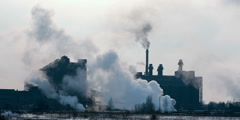 Coal processing plant Stock Footage