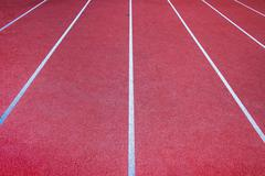 Running Track Lanes. - stock photo