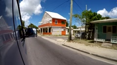 Antigua Caribbean Sea 251 GoPro shot of an island tour with bus - SPECIAL PRICE - stock footage