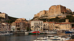 4K UltraHD A timelapse of the harbour of Bonifacio in Corsica Stock Footage