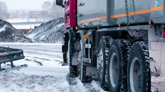 Trucks are sent to load coal Stock Footage