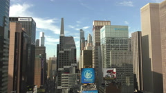 New York City Times Square from above Stock Footage