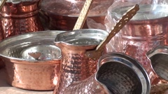 Handmade copper homeware on sale zoom out Stock Footage