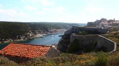 4K UltraHD A timelapse from the Citadel in Bonifacio, Corsica Stock Footage