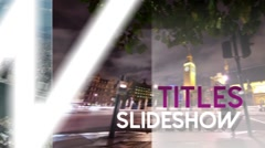 Titles Slideshow - After Effects Template Kuvapankki erikoistehosteet