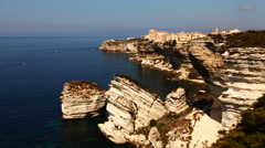 4K UltraHD A timelapse of the old town of Bonifacio Stock Footage