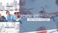 Stock After Effects of Motion Shapes Display - Apple Motion Template
