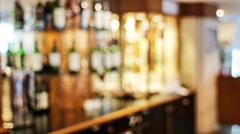 Stock Photo of liquor bar blurred abstrack background