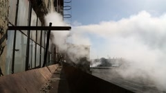 Steam coming out of a pipe Stock Footage