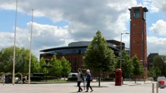 Royal Shakespeare Company Theatre. Stratford-Upon-Avon. England Stock Footage