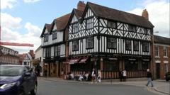 Stratford Upon Avon, Warwickshire.    England Stock Footage
