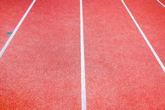 Running Track Lanes. Stock Photos