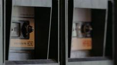 Double Cassette Deck Stock Footage