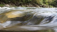 Mountain creek flowing water Stock Footage