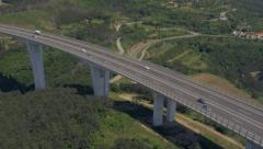 Aerial - Flyover the viaduct - stock footage